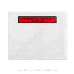 250 Bolsas Contiene Documentación 23,5x17,5 cm