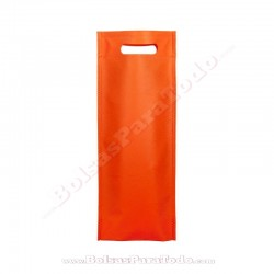 50 Bolsas TNT Naranja 16x40+10 cm Asa Troquelada