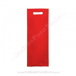 50 Bolsas TNT Rojo 16x40+10 cm Asa Troquelada