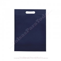 50 Bolsas TNT Azul Marino 20x30+10 cm Asa Troquelada