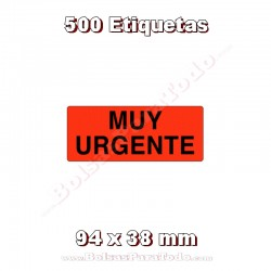 """1 Rollo de 500 adhesivos """"Muy urgente"""""""