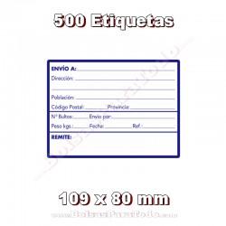 """1 Rollo de 500 adhesivos """"Dirección"""""""