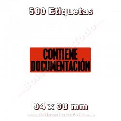 """1 Rollo de 500 adhesivos """"Contiene documentación"""""""
