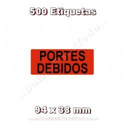 """1 Rollo de 500 adhesivos """"Portes debidos"""""""