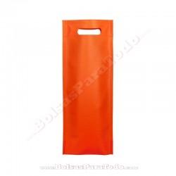 200 Bolsas TNT Naranja 16x40+10 cm Asa Troquelada