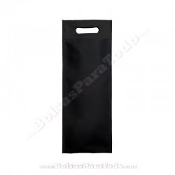 200 Bolsas TNT Negro 16x40+10 cm Asa Troquelada