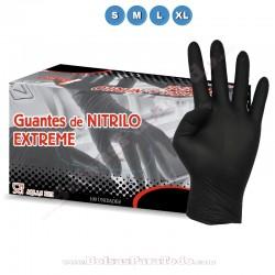 100 Guantes de Nitrilo Negro Extreme