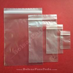 100 Bolsas PE 6x20 cm con Cierre Zip