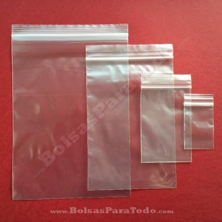 10000 Bolsas PE G-300 14x30 cm con Cierre Zip