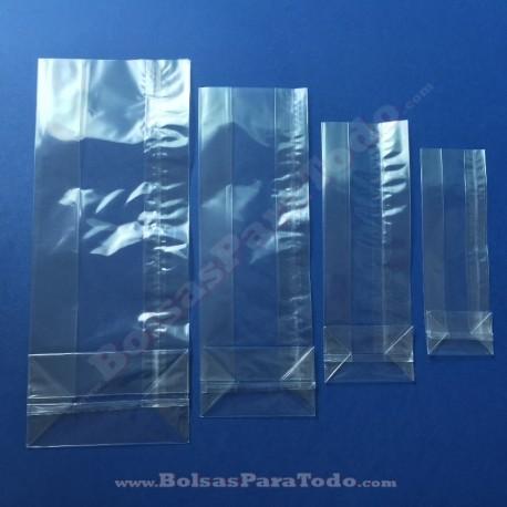 1000 Bolsas PP 8+5x24 cm c/ Fuelle y Fondo Cuadrado