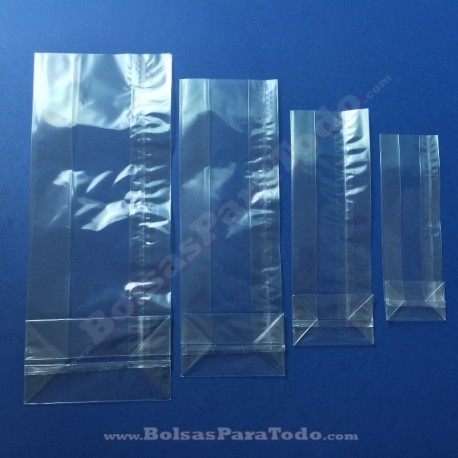 4000 Bolsas PP 8+5x24 cm c/ Fuelle y Fondo Cuadrado