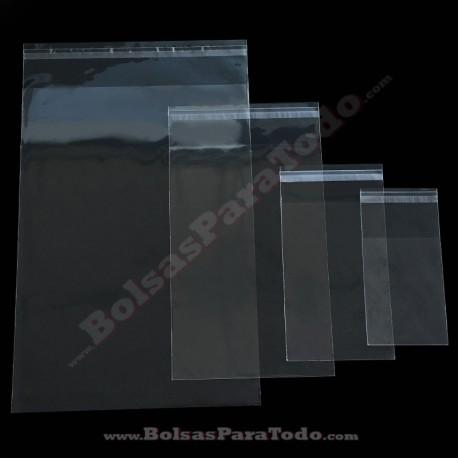 Bolsa de Polipropileno con Solapa Adhesiva de 14 x 14 cm 100 Unidades