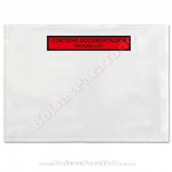 250 Bolsas Contiene Documentación 33,2x23,5 cm
