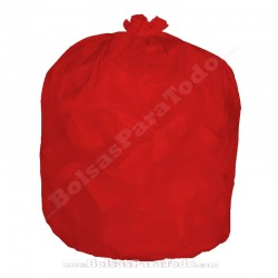 10 x 25 Bolsas Basura 52x60 cm G-60 Rojo