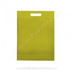 50 Bolsas TNT Verde Pistacho 16x22,5+5 cm Asa Troquelada