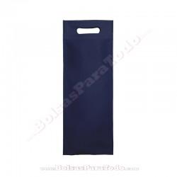 50 Bolsas TNT Azul Marino 16x40+10 cm Asa Troquelada
