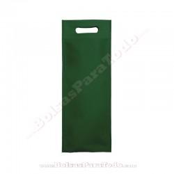 50 Bolsas TNT Verde Inglés 16x40+10 cm Asa Troquelada