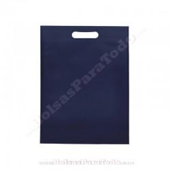 50 Bolsas TNT Azul Marino 30x40+10 cm Asa Troquelada