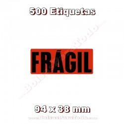 "1 Rollo de 500 adhesivos ""Frágil"""