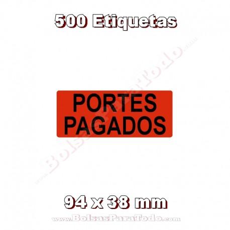 """1 Rollo de 500 adhesivos """"Portes pagados"""""""