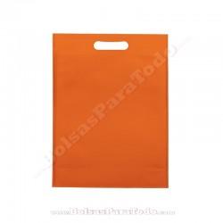 200 Bolsas TNT Naranja 20x30+10 cm Asa Troquelada