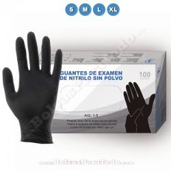 1000 Guantes de Nitrilo Negro Eco
