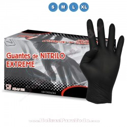 1000 Guantes de Nitrilo Negro Extreme