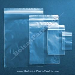 100 Bolsas PE G-160 10x15 cm con Cierre Zip
