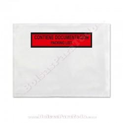 1000 Bolsas Contiene Documentación 16,5x12,2 cm